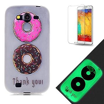 Samsung Galaxy Grand Neo i9060 Funda [Protector de pantalla de regalo gratis],Funyye [Noche Luminoso] Efecto fluorescente que brilla en la oscuridad ...
