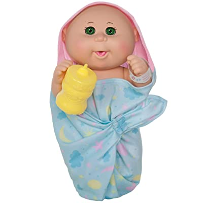"Cabbage Patch Kids 11"" Basic First Cuddles Newborn Drink 'n Wet (Bald, Green Eyes): Toys & Games"