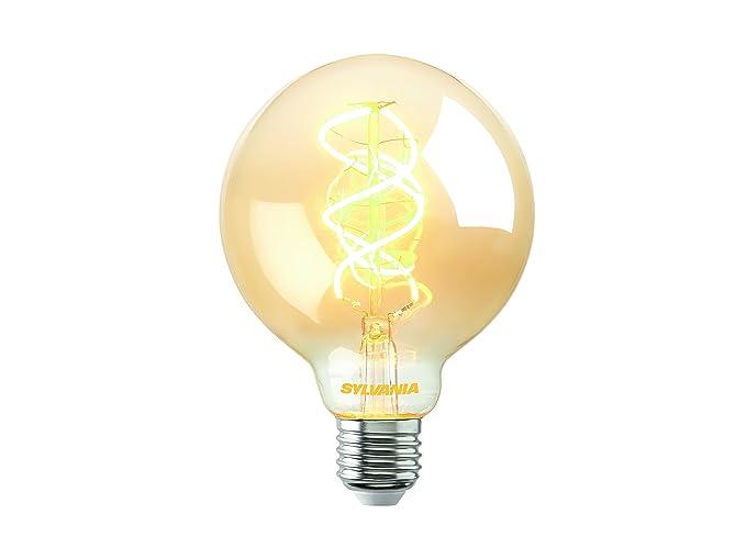 Sylvania LED Vintage Filamento G05 Globe Bombilla 5 W 250lm 820=2000 K E27