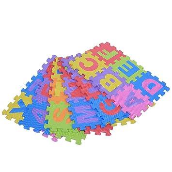 Yosoo 36pcs Estera Educativa Alfabeto Niños de Juguete Eva Estera Espuma Cojín Amortiguador Rompecabezas Multicolor Números