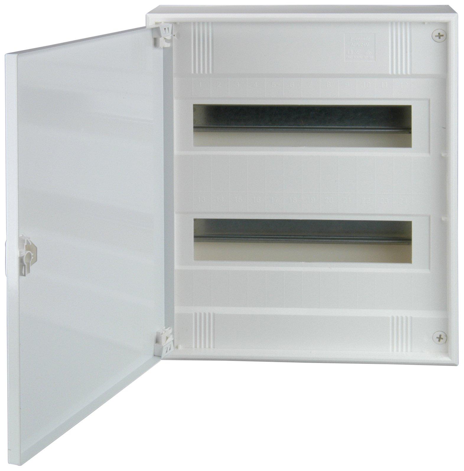 Unitec 47595Surface-Mounted Distribution, 2-row with Steel Door