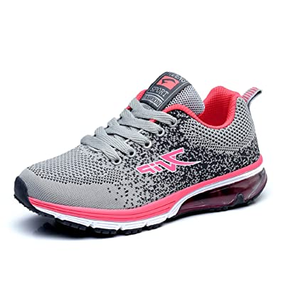8564139bb9c LILY999 Men Women Running Shoes Air Bubble Sports Trainers Walking Fitness  Gym Shock Absorbing Lightweight Sneakers