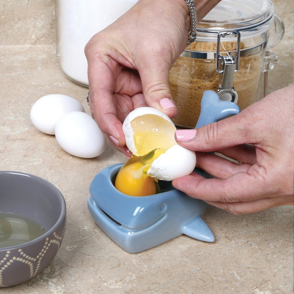 Stoneware Whale Shaped Ceramic Egg Separator by WHAT ON EARTH (Image #4)