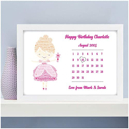 Personalised Fairy Birthday Gifts For Girls Her 3rd 4th 5th 6th 9th 10th 11th 12th 13th Kids Daughter Niece Granddaughter Best Friends