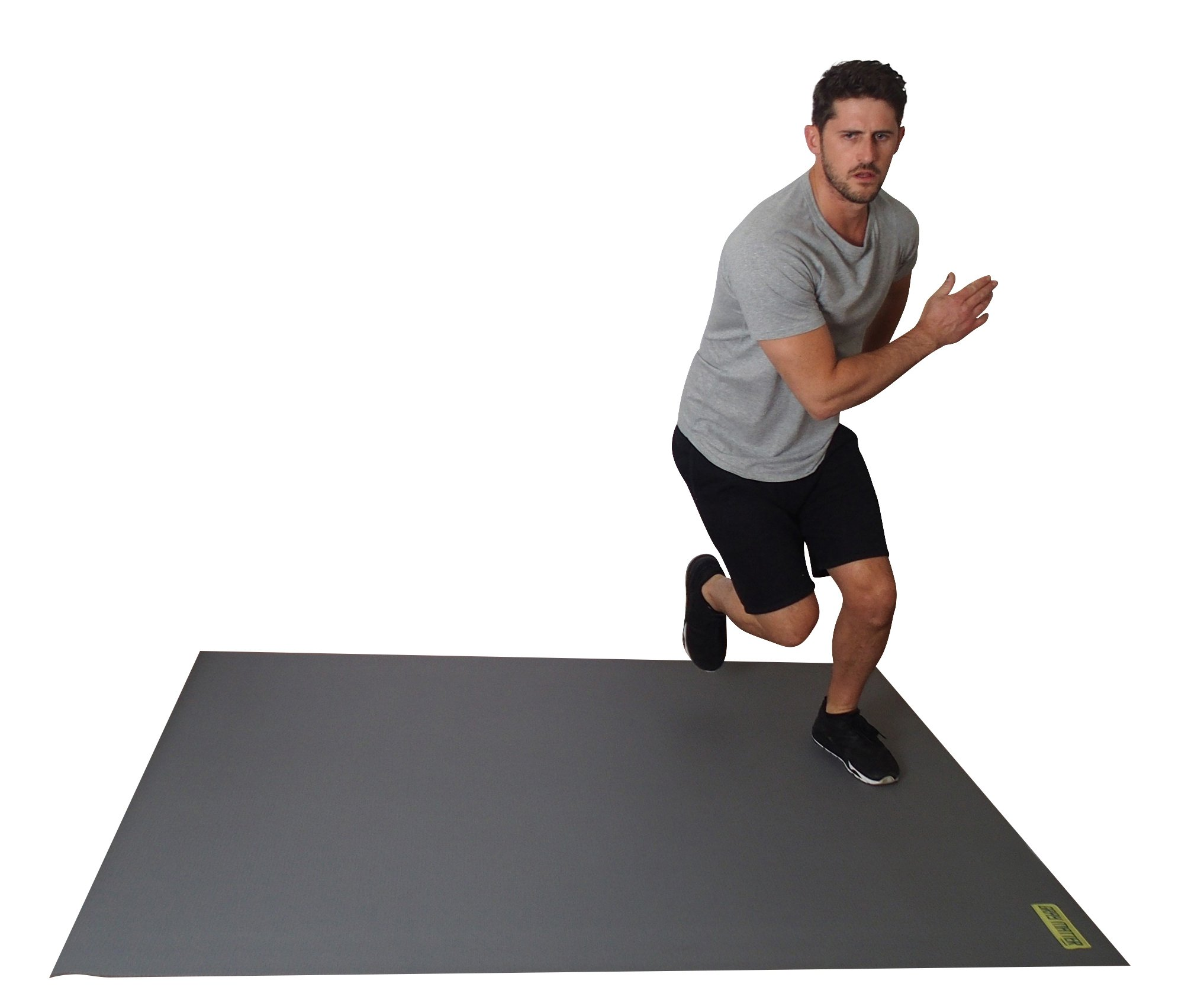 Large Exercise Mat For Cardio Workouts 72'' Long x 60'' Wide x 7mm Thick (6' x 5' x 7mm). For Home-Based Workouts With or Without SHOES. Comes With a Storage Bag & Storage Straps. by Square36 (Image #7)