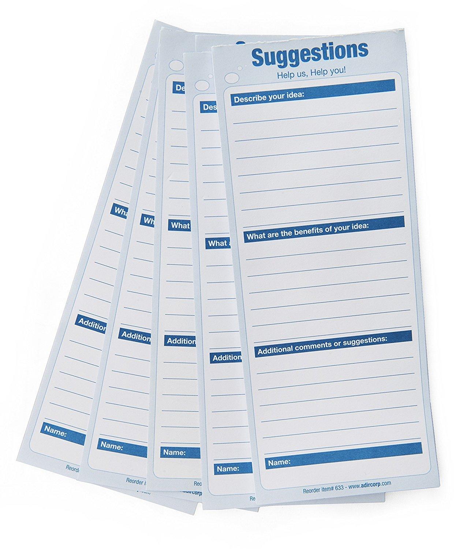 Adir Refill Suggestion Box Cards (50 pk)