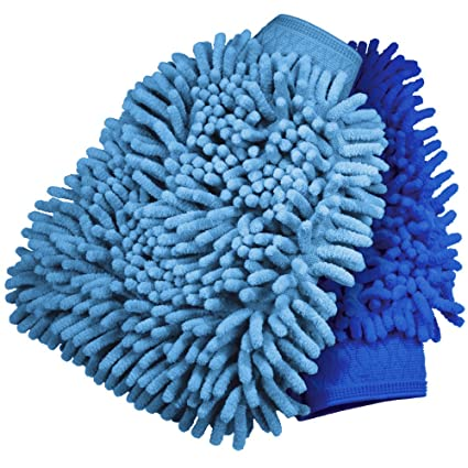 Natural Lambswool Car Wash Mitt Glove Premium Quality Plush Deep Pile Mammoth