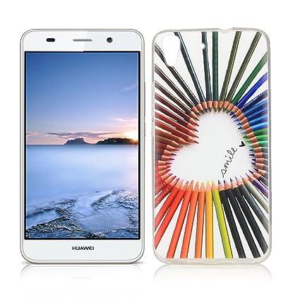 OuDu Funda para Huawei Y6 II/Y6 2 Carcasa Protectora Caso Silicona TPU Funda Suave