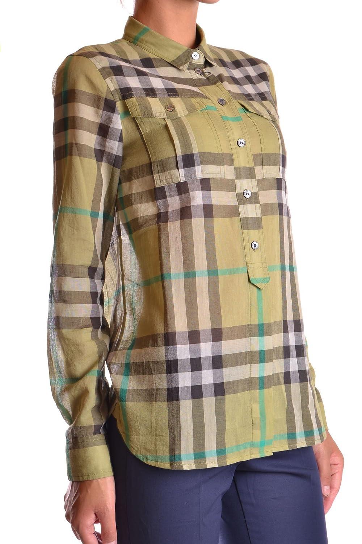 Burberry Mujer Mcbi056082o Verde Algodon Camisa: Amazon.es: Ropa y accesorios