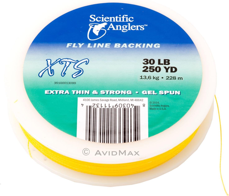 FREE US SHIPPING SCIENTIFIC ANGLERS 50 LB BLUE 250 YD XTS GEL SPUN BACKING