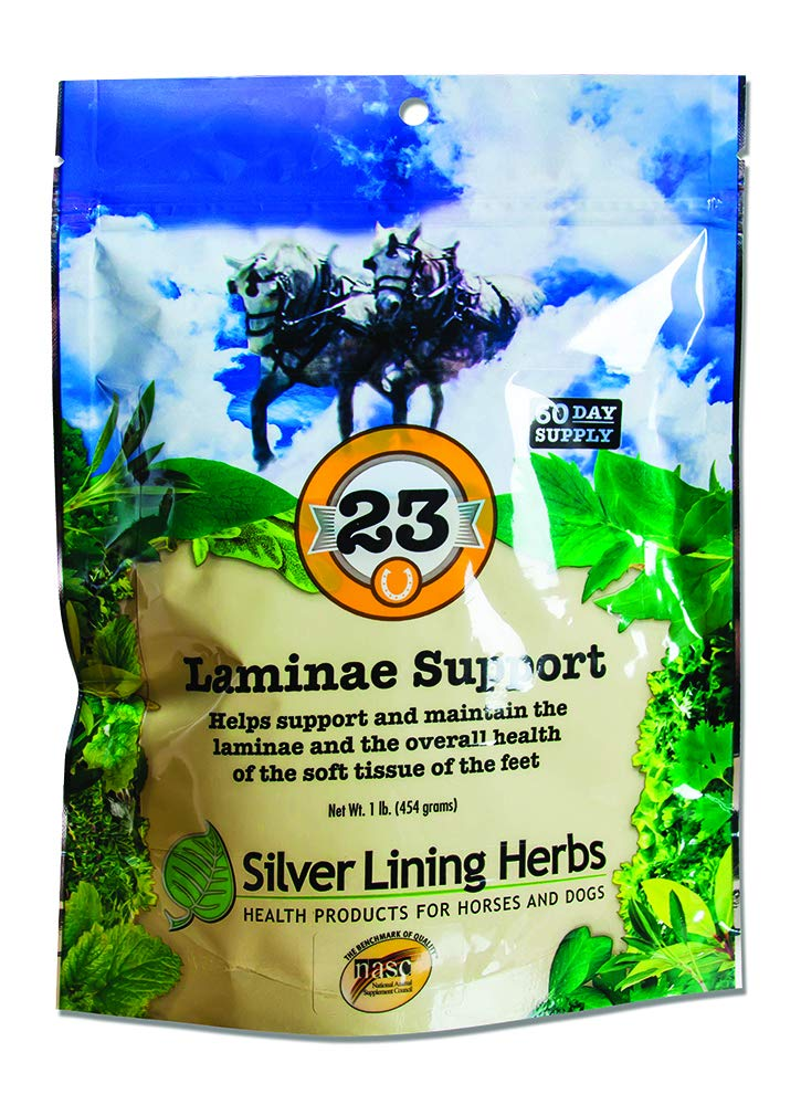 Laminae Support   Supports Natural Temperature in Horse Feet and Legs   Supports Soft Tissues and Reduced Inflammation of the Horses Foot and Hoof   Made in the USA of Natural Herbs by Silver Lining Herbs