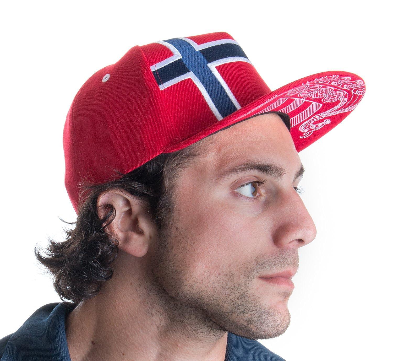 amazon com epic norway flag snapback hat norwegian arms lion