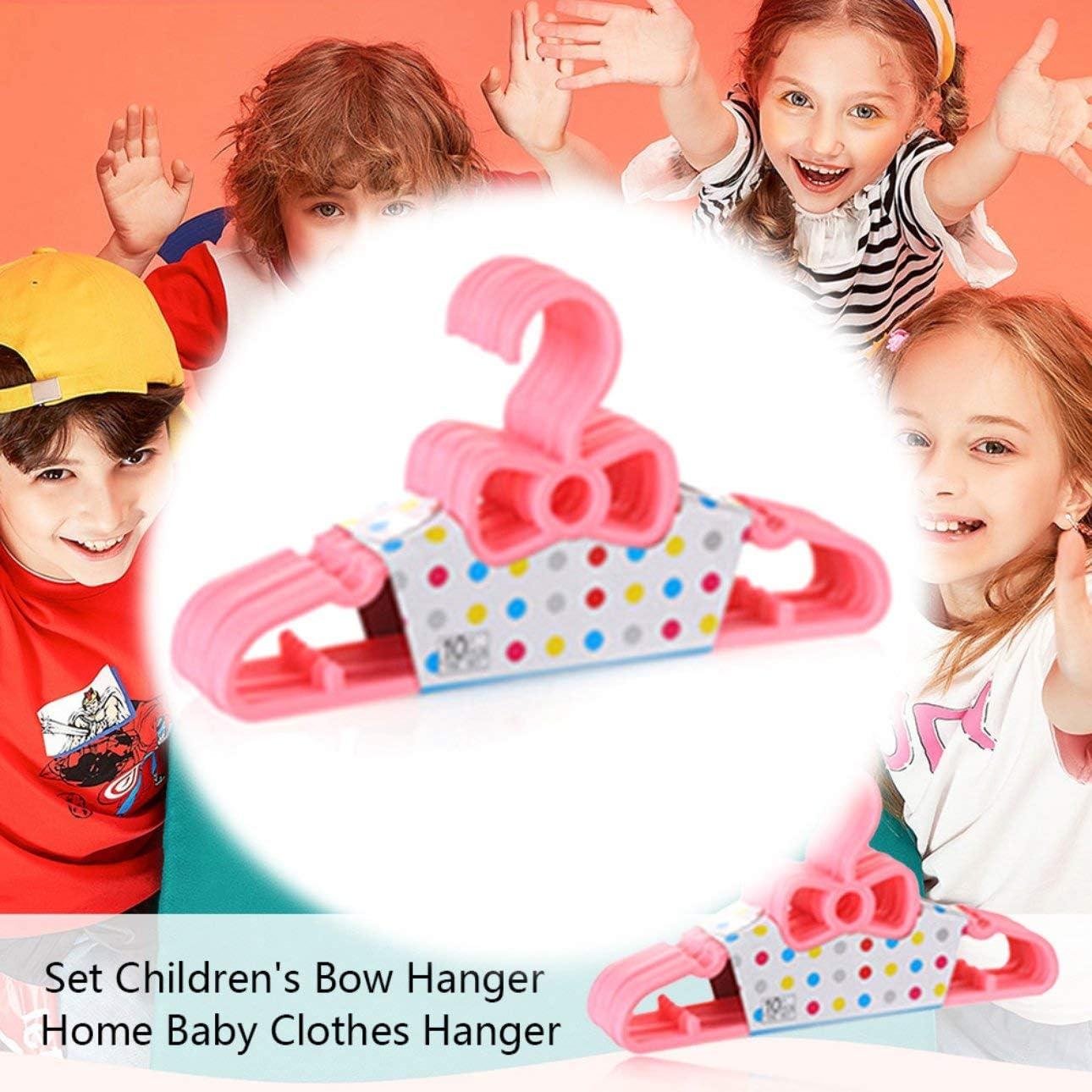 Ballylelly 10 St/ück Set Kinder Bogen Kleiderb/ügel Home Baby Kleiderb/ügel