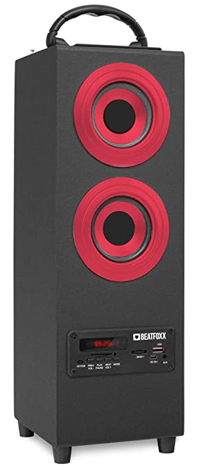 B-WARE Mobil Bluetooth Lautsprecher USB SD AUX MP3 Player Box Sound System rot