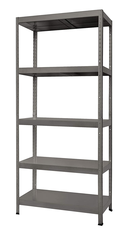 de hasta 275/kg por balda Hans schourup 13501110/ color gris 180/cm x 60/cm x 40/cm /Estanter/ía con 5/estantes de MDF