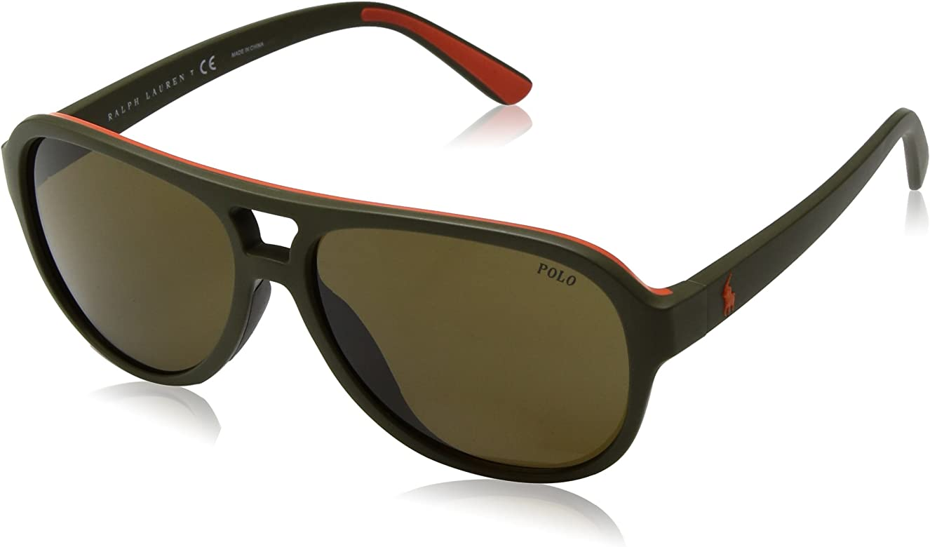 Ralph Lauren POLO 0PH4123 Gafas de sol, Matte Olive Orange Rubber ...