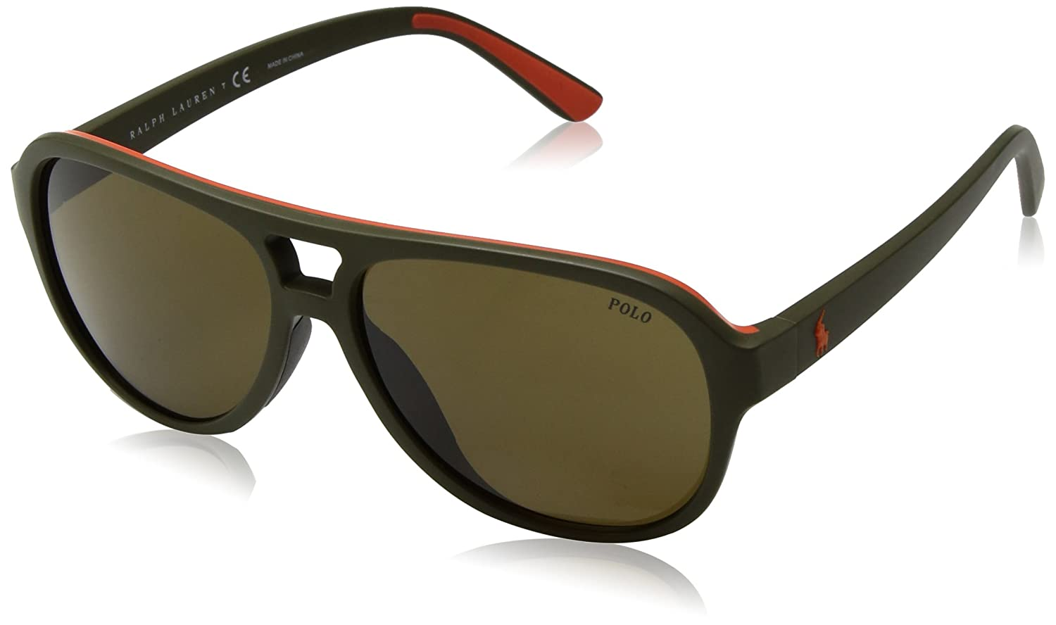 POLO RALPH LAUREN 0PH4123 Gafas de sol, Matte Olive Orange ...