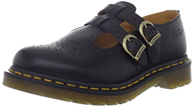 Dr. Martens 8065 Double Strap Mary Jane Black Smooth 3 F(M) UK