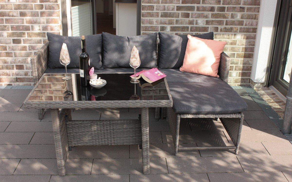 balkonlounge bologna gartenm bel lounge polyrattan balkon sitzgruppe mit kissen g nstig online. Black Bedroom Furniture Sets. Home Design Ideas