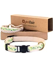 Pettsie Cat Collar Breakaway Safety and Friendship Bracelet for You, 100% Cotton for Extra Safety, D-Ring for Accessories, Comfortable Cotton, Adjustable 7.5-11.5 Inch