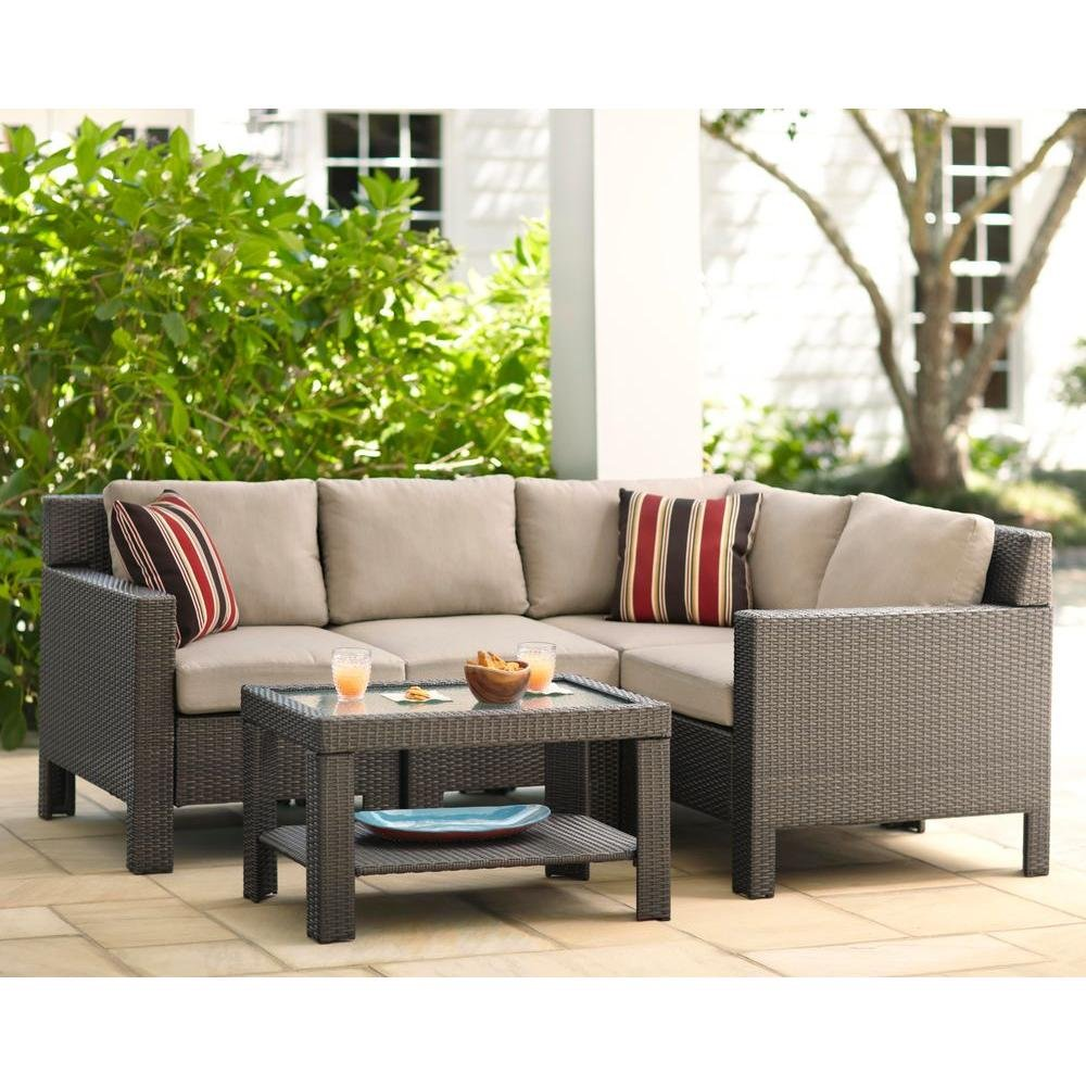 Charming Amazon.com: Beverly 5 Piece Patio Sectional Seating Set With Beige Cushion:  Cell Phones U0026 Accessories