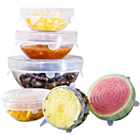 Orblue Silicone Stretch Lids, 6-Pack of Various Sizes Reusable Silicone Lids for Different Shapes of Containers - Eco…