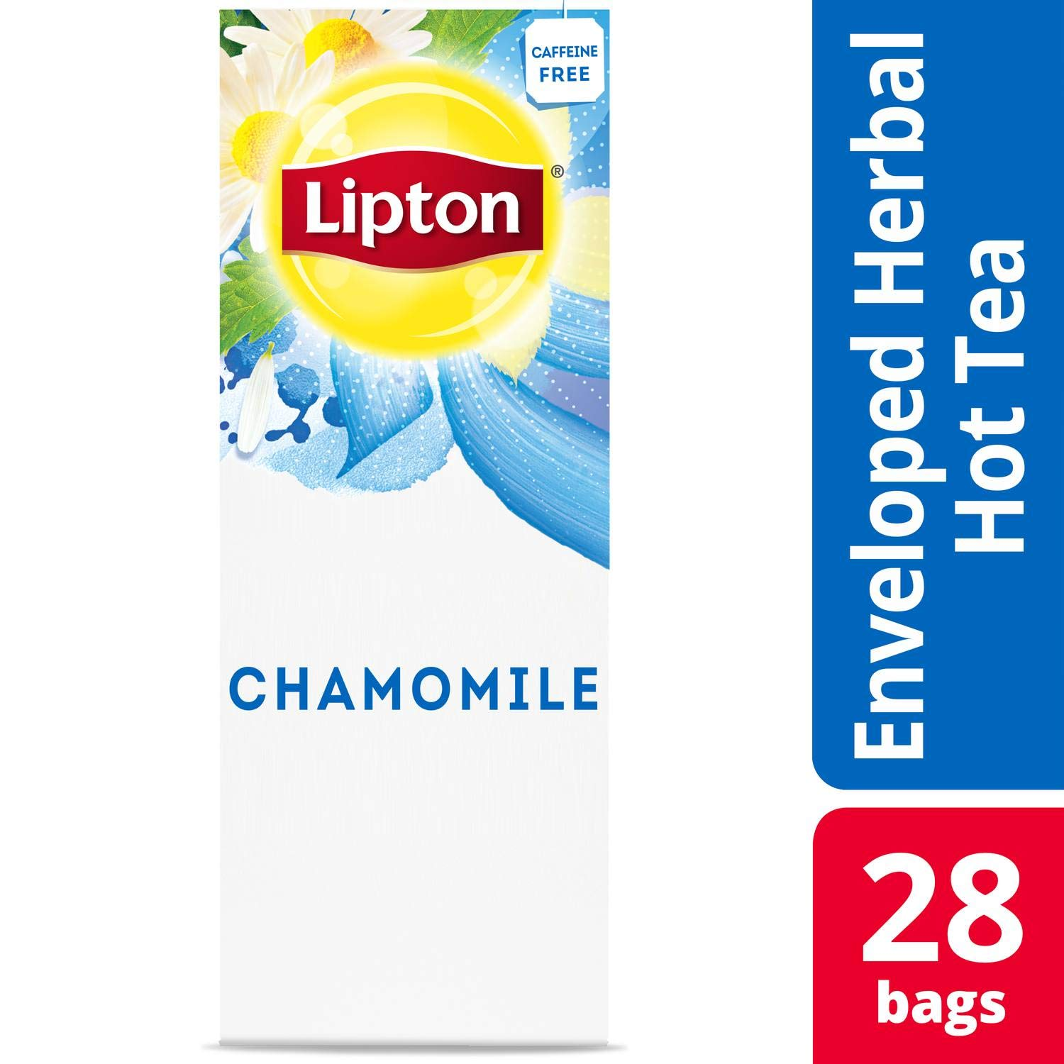 Lipton Hot Tea Bags Chamomile 28 count, Pack of 6