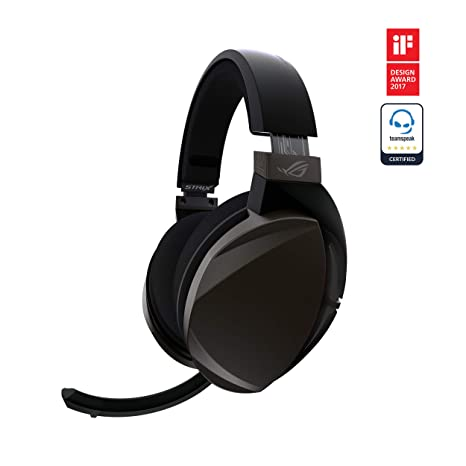ASUS ROG Strix Fusion Wireless Gaming Headset for PC and Playstation 4  (PS4) with Dual Channel 2 4GHz Wireless Mini Dongle, Digital Microphone  with