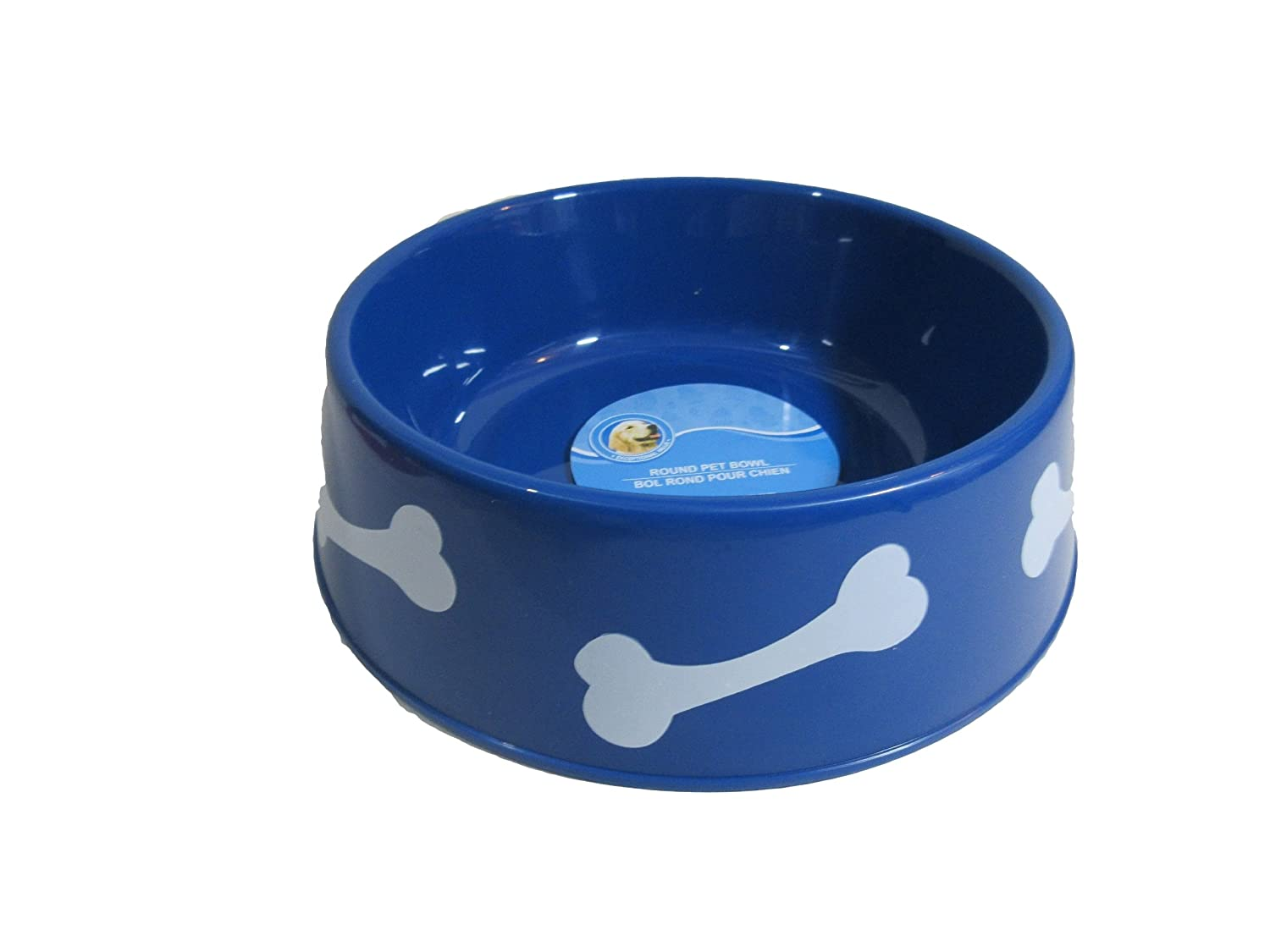 Volt-x Cute Round Large Plastic Pet Bowl for Dogs and Cats- bluee