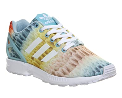 finest selection e9cd5 c9bf6 adidas Originals ZX Flux W Chaussures Mode Sneakers Femme Multicolore  Torsion