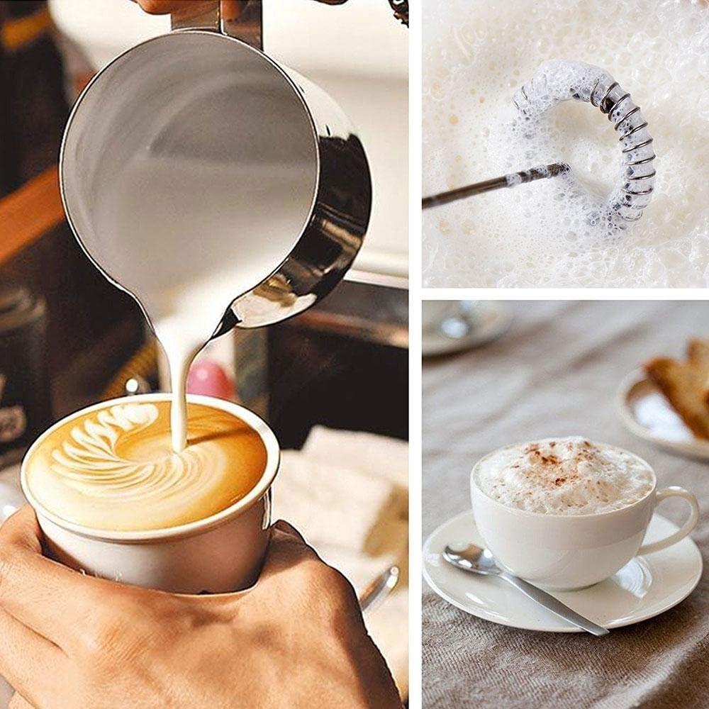 AOLVO portátil recargable café espumador de leche proteínas ...