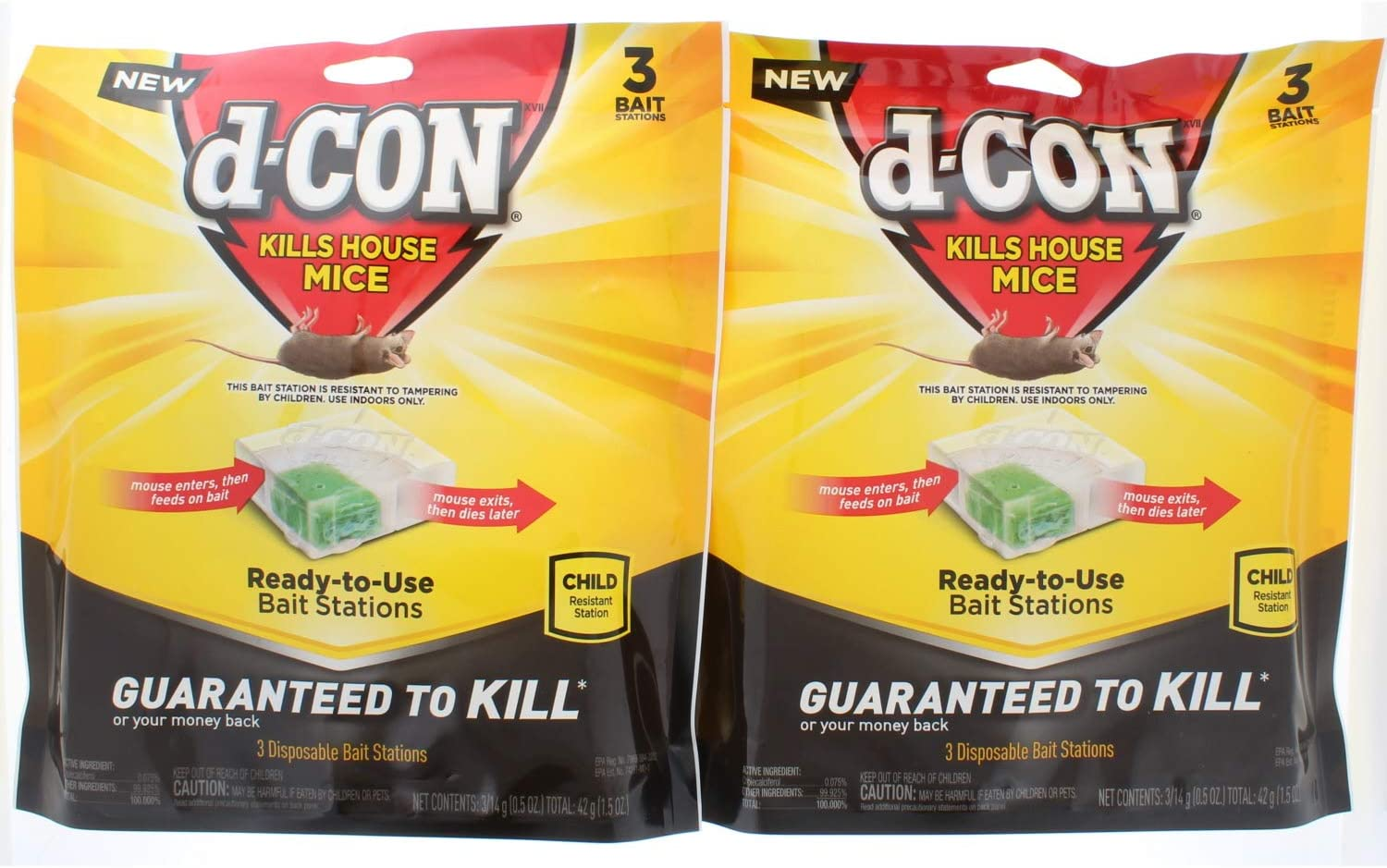 2 Pk. D-Con Mouse Poison Bait Station (6 Stations and 6 baits)