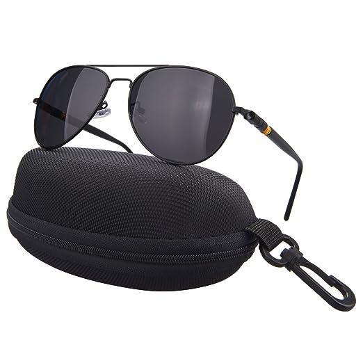 d16c0b224a5 JWGJW 888-1 Aviator Polarized Sunglasses Metal Frame Pilot Glasses Polarized  100% UV protection