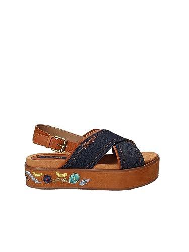 657148eb39f7f1 Wrangler WL181661 Keilsandalen Frauen  Amazon.de  Schuhe   Handtaschen