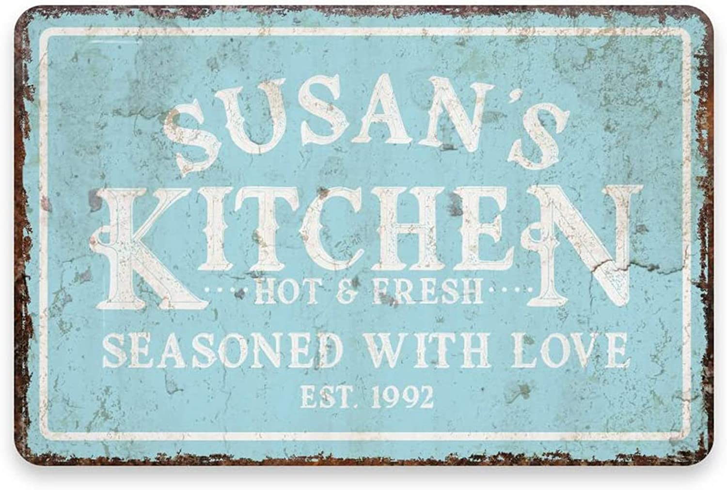 MAIYUAN Personalized Kitchen Signs, Metal Wall Decoration Signs, Home Decoration Art Signs