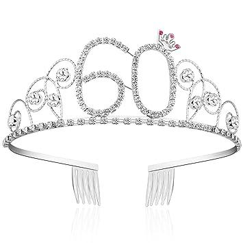 Amazon.com: Tiara de cristal Babeyond, para cumpleañ ...
