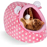 CUPETS Pet House for Cat Dog with Comfortable Pet Bed Portable Indoor in Winter Pet Cave