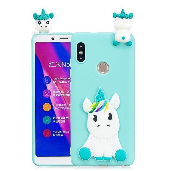 quality design 2ec56 d8578 Amazon.com: Redmi Note 5 Pro Case, DAMONDY 3D Cute Unicorn Cartoon ...