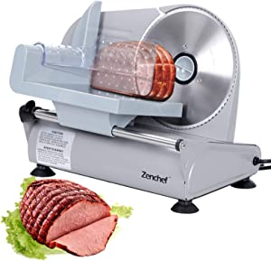 SUPER DEAL Premium Stainless Steel Electric Meat Slicer 7.5″ inch Blade Home Kitchen Deli Meat Food Vegetable Cheese Cutter – Thickness Adjustable – Easy to clean