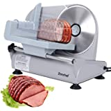 SUPER DEAL Premium Electric Food Meat Slicer - 7.5inch Stainless Steel Blade Home Kitchen Deli Meat Food Vegetable Cheese Cutter - Thickness Adjustable - Spacious Sliding Carriage - Easy to Clean