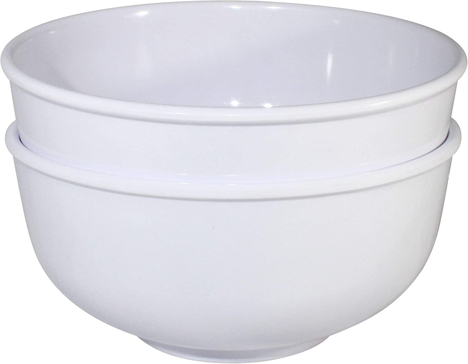 Chef Miso Set of 2 Extra Large Melamine Soup Bowls Red and Black Pho and Ramen Bowls 60 Ounces