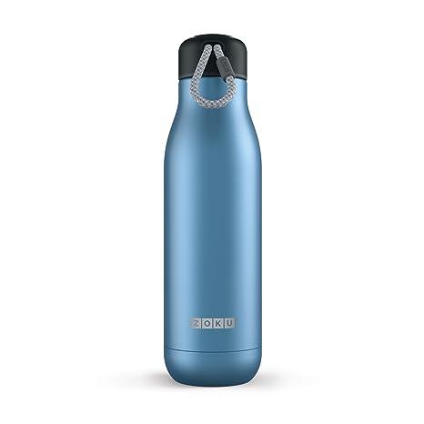 Zoku 750 ml Botella de Agua, Acero Inoxidable, Azul, 8 x 8 x ...