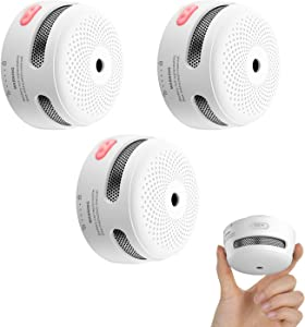 X-Sense Mini Smoke Alarm, 10-Year Battery Fire Alarm Smoke Detector with LED Indicator & Silence Button, Compliant with UL 217 Standard, XS01, 3-Pack