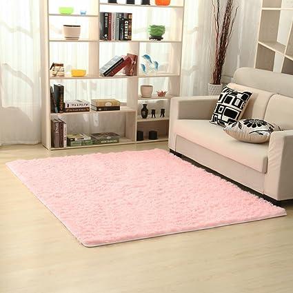 Amazon.com: Plush carpet thickening silk hair simple modern living ...