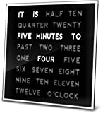 """LED Word Clock 8"""" x 8"""" - Displays Time As Text - Wall Mount or Desktop with Built-in Stand"""