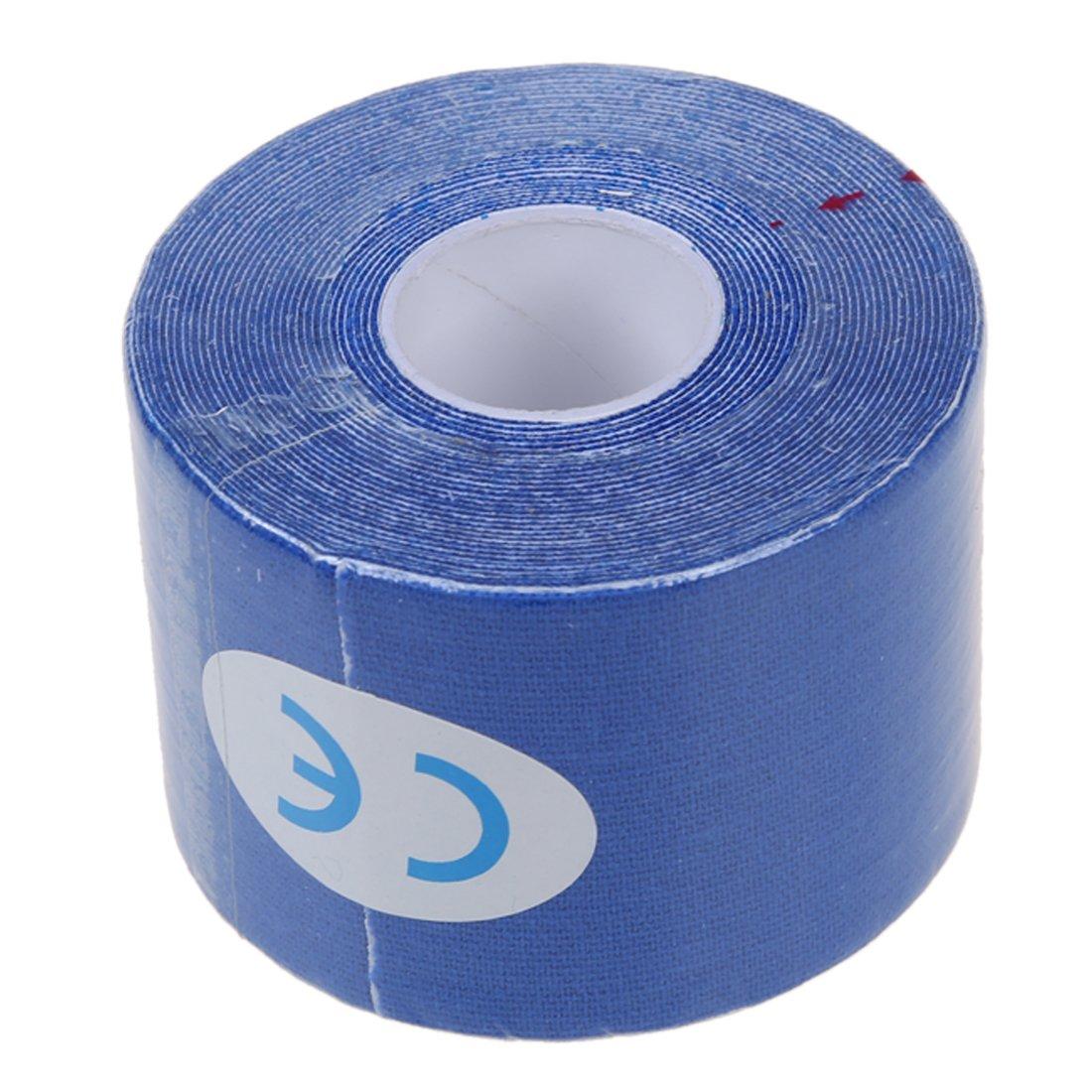 TOOGOO (R) 1 rollo de Deportes Kinesiologia Musculos Cuidado Gimnasio Atletico 5M Cinta Salud * 5CM - Azul marino SHOMAGT22447