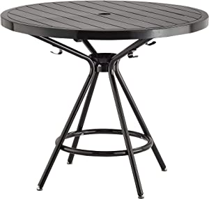 "Safco Products CoGo Steel Indoor/Outdoor Table, 36"" Round, Black"