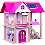 Costello® HQ KIDS GIRLS CLASSIC BARBIE WOODEN DOLLS FAMILY HOUSE MANSION CHILDREN WITH FURNITURE COTTAGE TOY TOWN LARGE BARBIE ☆FREE NEXT DAY DELIVERY☆SAME DAY DISPATCH BEFORE 2PM☆
