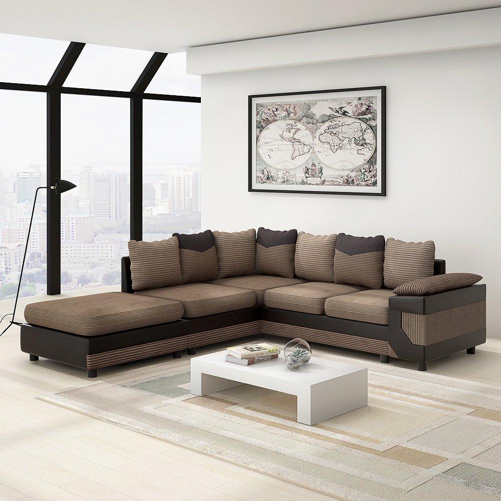 L Shaped Corner Sofa New Living Room Set Couch Designs U ...