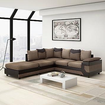 Anaelle Panana Canapé Du0027angle Sofa Moderne En Tissu En Polyester + PU Cuir 5